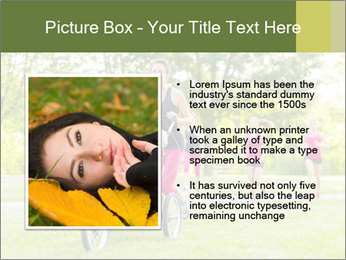 Woman pushing PowerPoint Template - Slide 13
