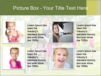 Woman pushing PowerPoint Template - Slide 14