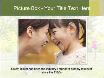 Woman pushing PowerPoint Template - Slide 15