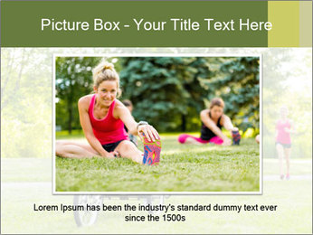 Woman pushing PowerPoint Template - Slide 16