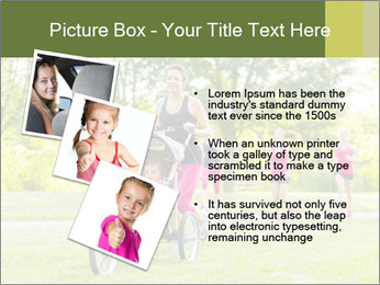 Woman pushing PowerPoint Template - Slide 17
