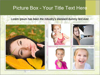 Woman pushing PowerPoint Template - Slide 19