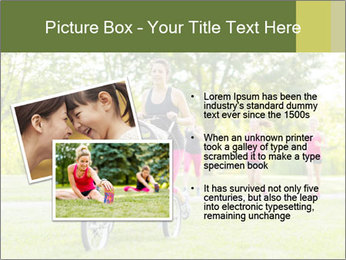 Woman pushing PowerPoint Template - Slide 20
