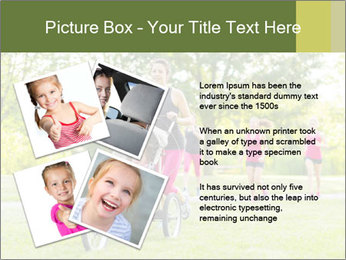 Woman pushing PowerPoint Template - Slide 23