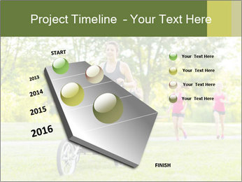 Woman pushing PowerPoint Template - Slide 26