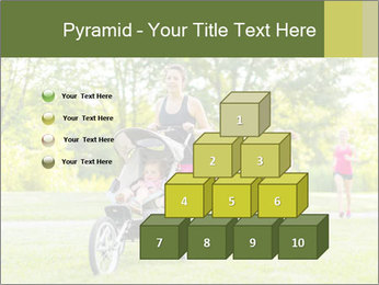 Woman pushing PowerPoint Template - Slide 31