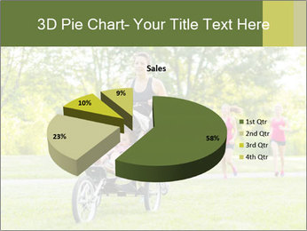 Woman pushing PowerPoint Template - Slide 35