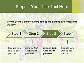 Woman pushing PowerPoint Template - Slide 4