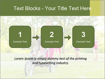 Woman pushing PowerPoint Template - Slide 71