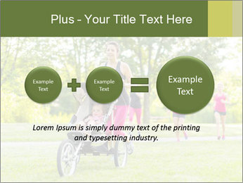 Woman pushing PowerPoint Template - Slide 75