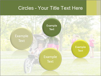 Woman pushing PowerPoint Template - Slide 77