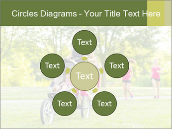 Woman pushing PowerPoint Template - Slide 78