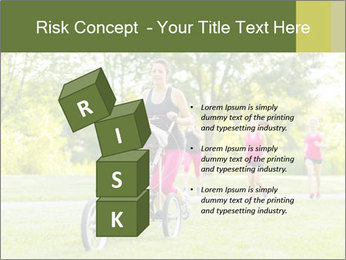 Woman pushing PowerPoint Template - Slide 81
