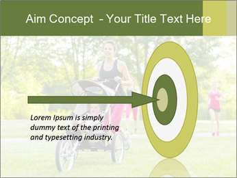 Woman pushing PowerPoint Template - Slide 83