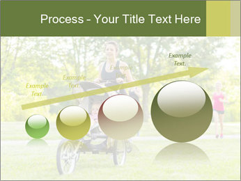 Woman pushing PowerPoint Template - Slide 87