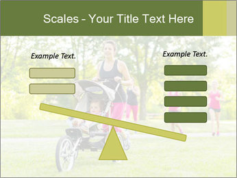 Woman pushing PowerPoint Template - Slide 89