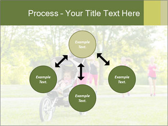 Woman pushing PowerPoint Template - Slide 91