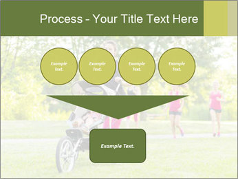 Woman pushing PowerPoint Template - Slide 93