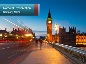 Chrome blue sky PowerPoint Template