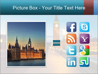 Chrome blue sky PowerPoint Template - Slide 21