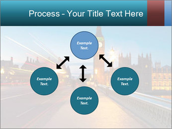 Chrome blue sky PowerPoint Template - Slide 91
