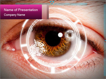 Futuristic biometric scan of the eye PowerPoint Template - Slide 1