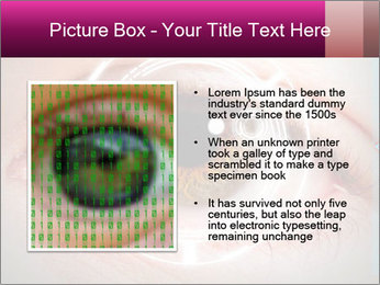 Futuristic biometric scan of the eye PowerPoint Template - Slide 13