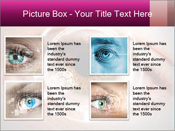 Futuristic biometric scan of the eye PowerPoint Template - Slide 14