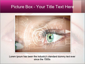 Futuristic biometric scan of the eye PowerPoint Template - Slide 15