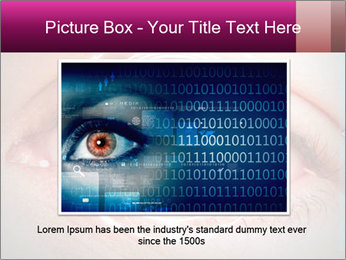 Futuristic biometric scan of the eye PowerPoint Template - Slide 16