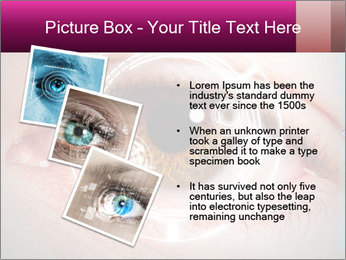 Futuristic biometric scan of the eye PowerPoint Template - Slide 17
