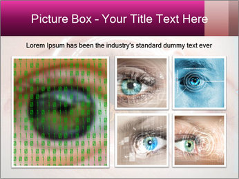 Futuristic biometric scan of the eye PowerPoint Template - Slide 19