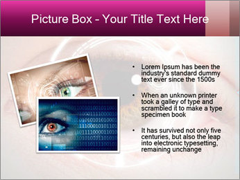 Futuristic biometric scan of the eye PowerPoint Template - Slide 20