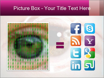 Futuristic biometric scan of the eye PowerPoint Template - Slide 21