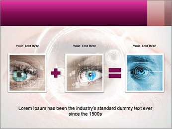 Futuristic biometric scan of the eye PowerPoint Template - Slide 22