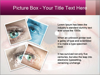 Futuristic biometric scan of the eye PowerPoint Template - Slide 23
