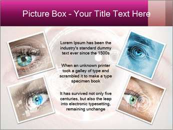 Futuristic biometric scan of the eye PowerPoint Template - Slide 24