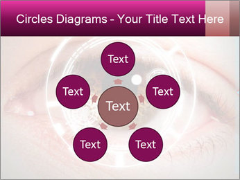 Futuristic biometric scan of the eye PowerPoint Template - Slide 78