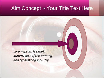 Futuristic biometric scan of the eye PowerPoint Template - Slide 83