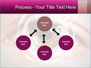 Futuristic biometric scan of the eye PowerPoint Template - Slide 91