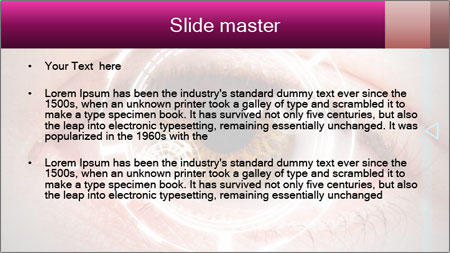 Futuristic biometric scan of the eye PowerPoint Template - Slide 2