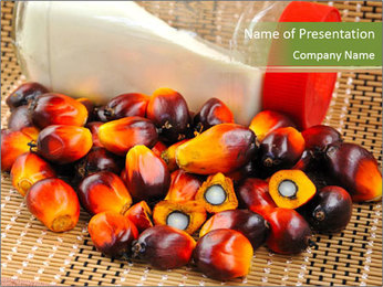 Close up of fresh oil palm fruits PowerPoint Templates - Slide 1