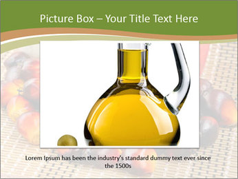 Close up of fresh oil palm fruits PowerPoint Templates - Slide 16