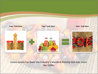Close up of fresh oil palm fruits PowerPoint Templates - Slide 22