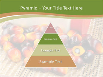 Close up of fresh oil palm fruits PowerPoint Templates - Slide 30