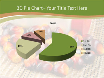 Close up of fresh oil palm fruits PowerPoint Templates - Slide 35