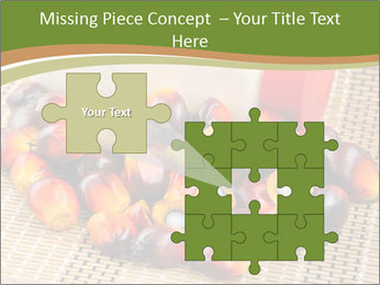 Close up of fresh oil palm fruits PowerPoint Templates - Slide 45