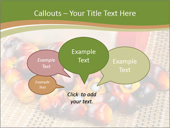 Close up of fresh oil palm fruits PowerPoint Templates - Slide 73