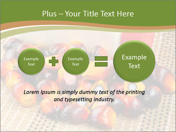 Close up of fresh oil palm fruits PowerPoint Templates - Slide 75