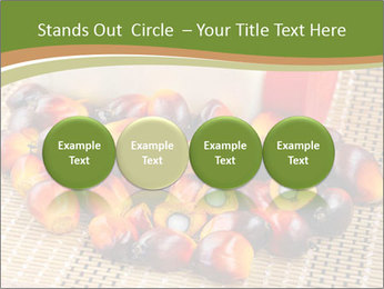Close up of fresh oil palm fruits PowerPoint Templates - Slide 76